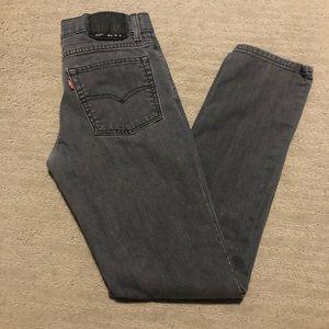 Levi's 510 skinny jeans gray size 18 boys